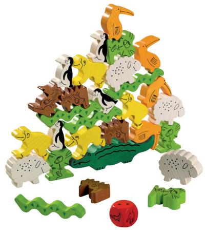  Family Game Night: Animal Upon Animal wooden stacking haba game balance 