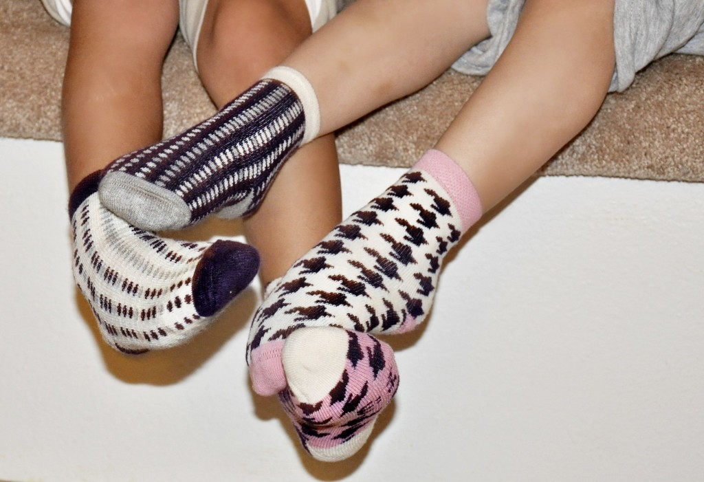 Blind Mice {a pair and a spare} toddler socks infant booties blind mice