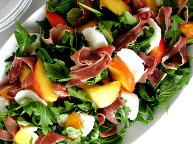 Peach, Prosciutto and Mozzarella Salad - in the know mom