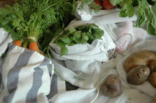 {DIY} farmers market bags sewing produce eco friendly DIY