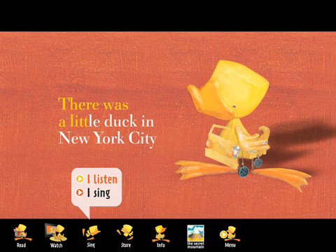 Duck in New York City {app} read iTunes educational book app