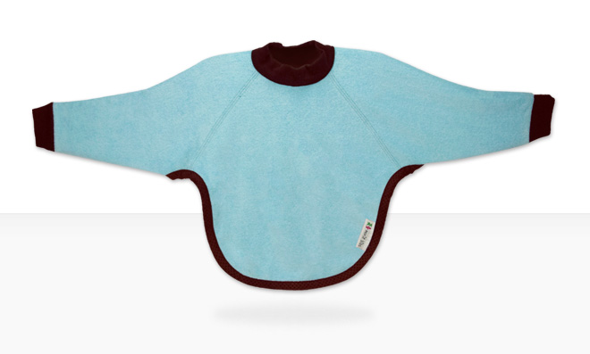 long-sleeved baby bib