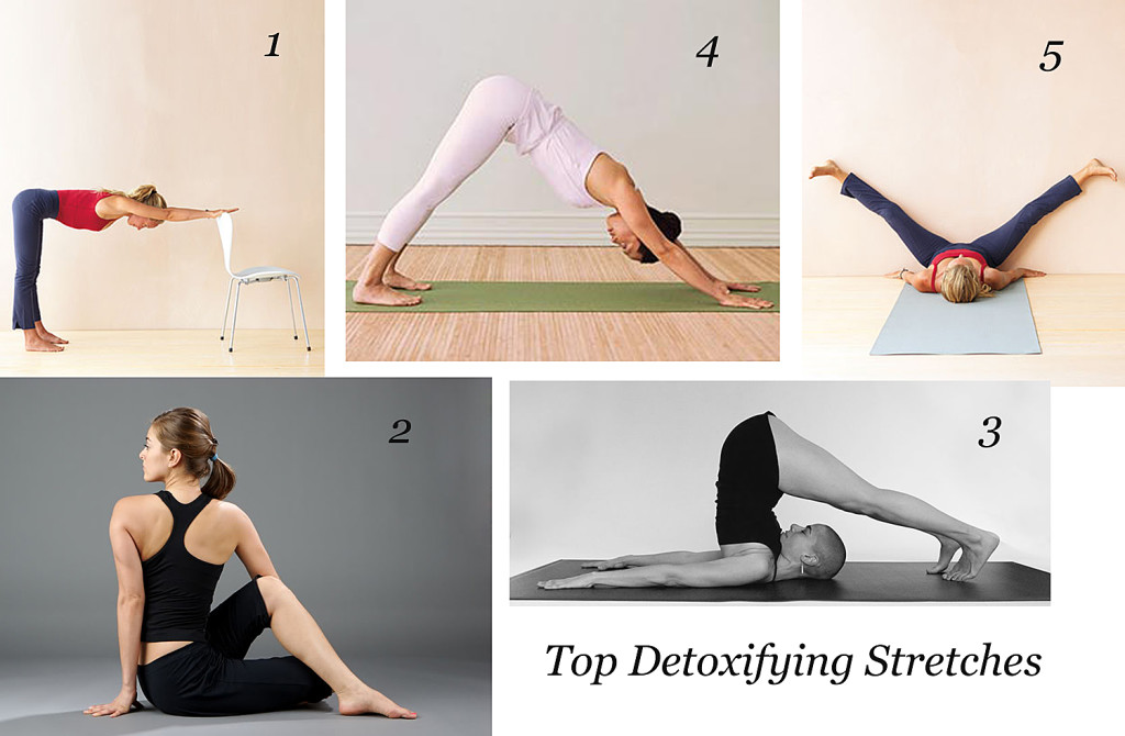 {Top 5} Detoxifying Stretches yoga wellness Top 5 health fitness detox