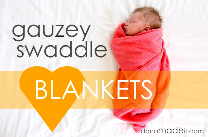 {DIY} Baby Muslin Blankets swaddle gauzey DIY Dana made it blanket