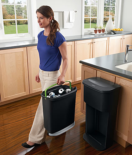 2 in 1 Recycler {Rubbermaid} + Giveaway rubbermaid recycle kitchen eco friendly