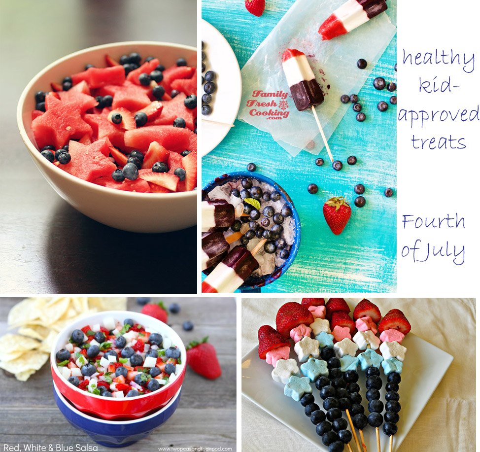 Healthy Fourth of July Fare {Kid Approved} recipes kids food holiday healthy snacks fourth of july