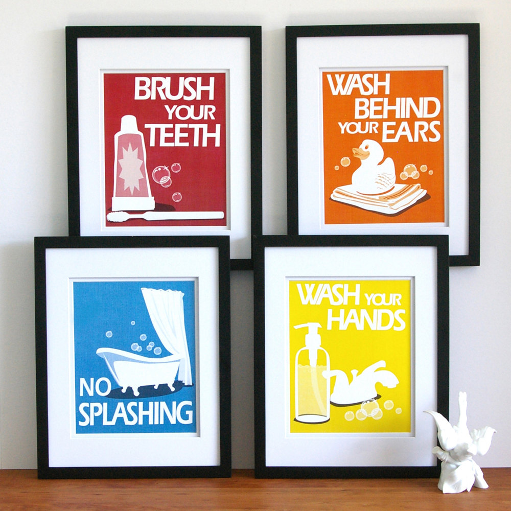 Paper Llamas Bathroom Art Prints Etsy