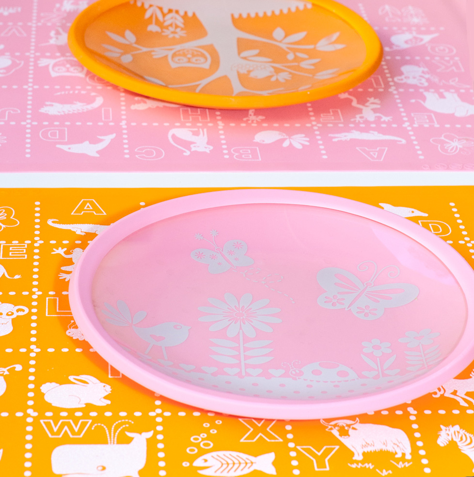 Garden Party Brinware Slip Resistant Silicone Placemat One Size Pink