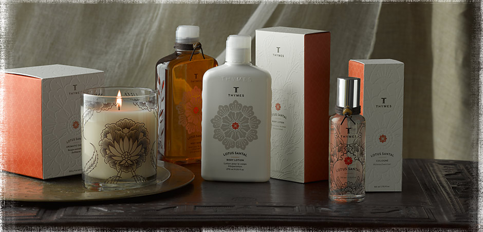 Thymes Lotus Santal home fragrance review