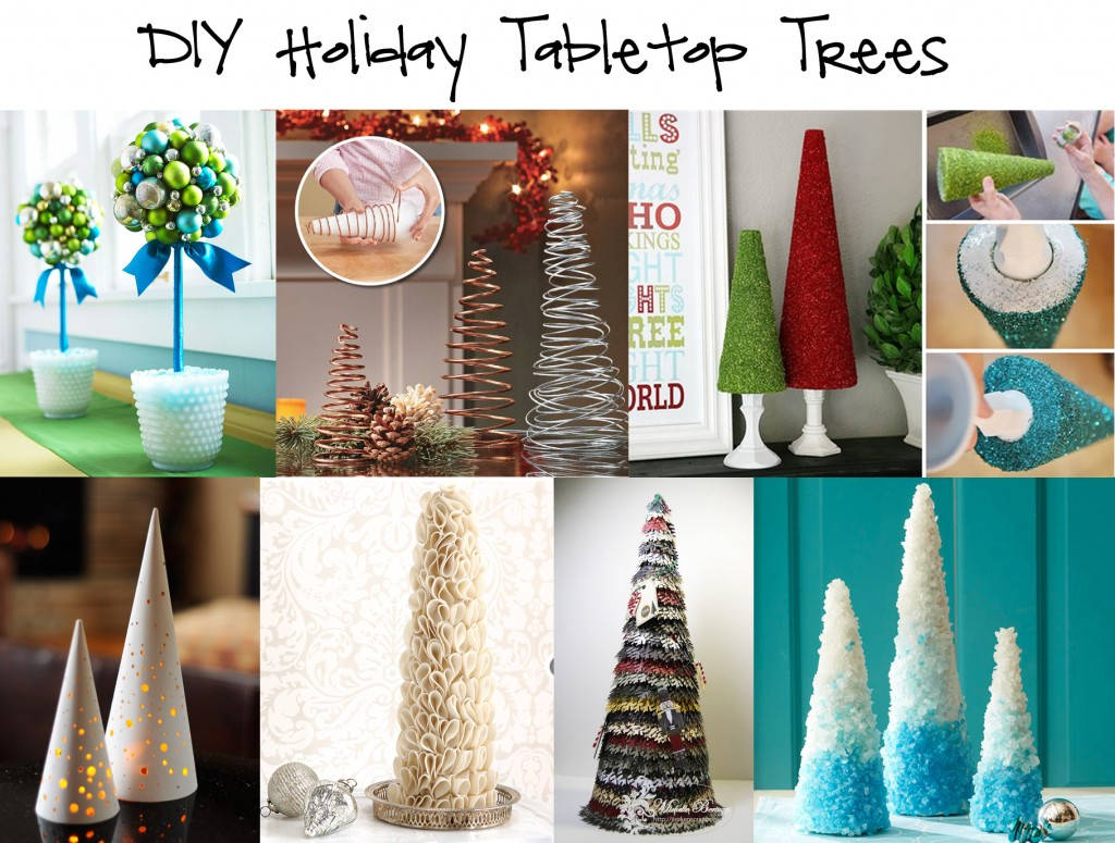 {Round up} DIY Holiday Tabletop Trees round up holiday DIY design decor craft christmas