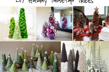 DIY holiday tabletop trees