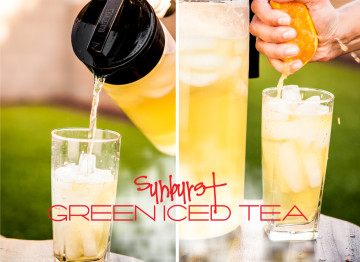 sunburst green iced tea