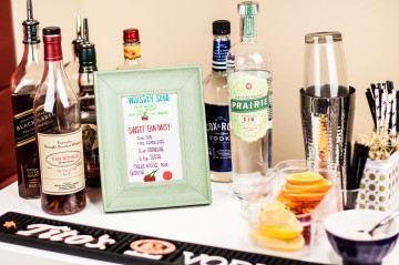 DIY bar cart menu #rubermaidsharpie