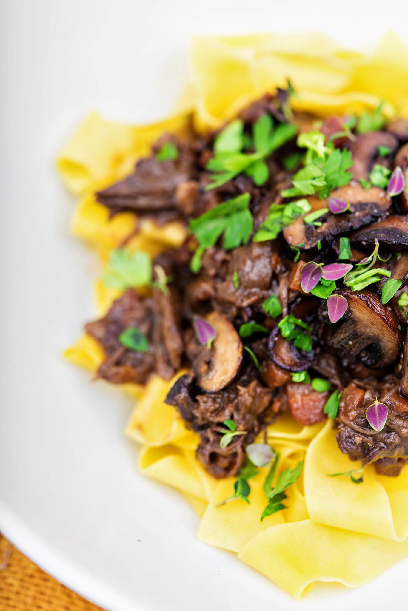 short rib ragu with pappardelle & port mushrooms - in the ...